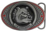 I'm The Boss Belt Buckle with display stand. Product code LG1